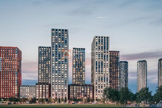 1-комн квартира, 39.8 м2, 25 этаж