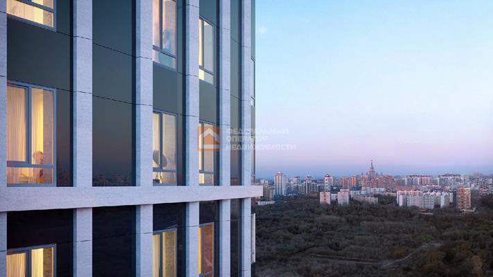 1-комн квартира, 43.04 м2, 23 этаж - фото 1