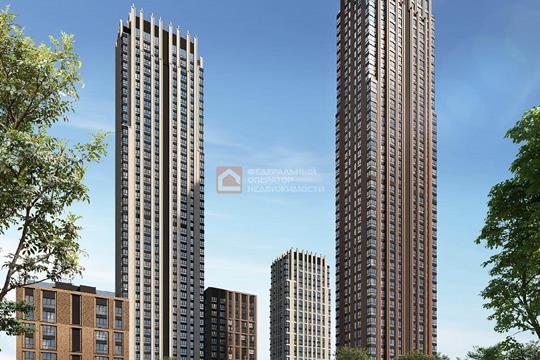 3-комн квартира, 86.7 м2, 45 этаж