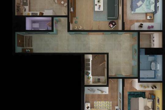 4-комн квартира, 119.17 м2, 15 этаж