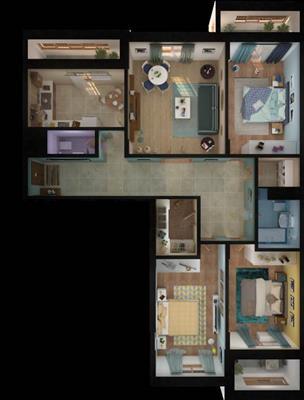 4-комн квартира, 119.17 м2, 15 этаж - фото 1
