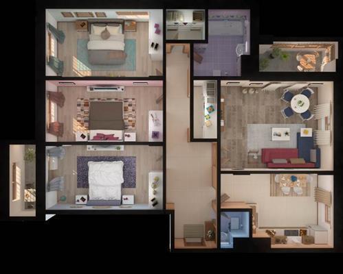 4-комн квартира, 118.96 м2, 19 этаж - фото 1