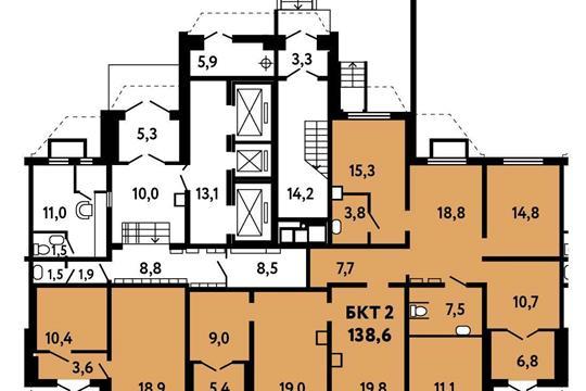 Офис, 138.6 м2, класс B