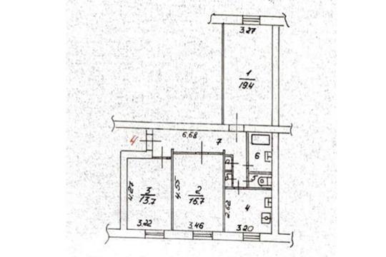 3-комн квартира, 74 м2, 1 этаж