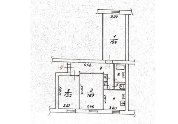 3-комн квартира, 74 м2, 1 этаж - фото 1