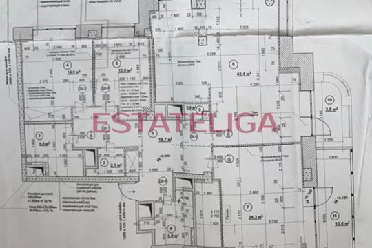 4-комн квартира, 127 м2, 14 этаж