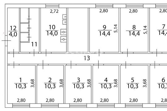 Многокомнатная квартира, 154.5 м2, 1 этаж