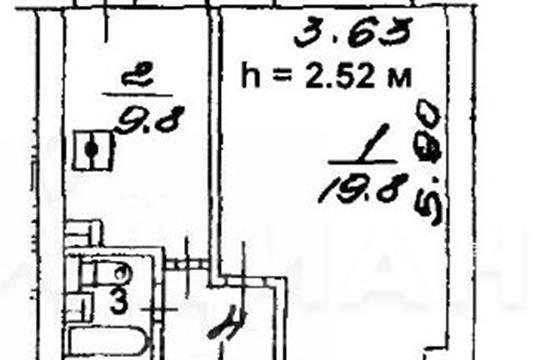 1-комн квартира, 34.8 м2, 8 этаж