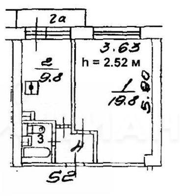 1-комн квартира, 34.8 м2, 8 этаж - фото 1