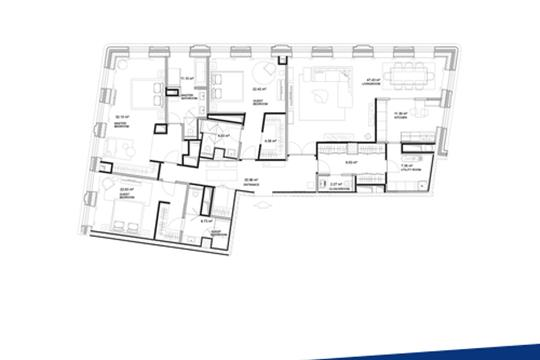 3-комн квартира, 201 м2, 6 этаж