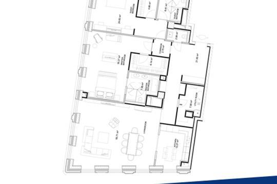 3-комн квартира, 174.1 м2, 7 этаж