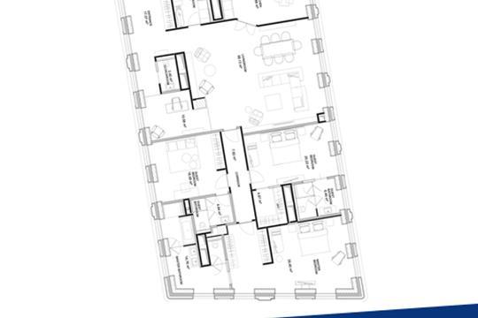 3-комн квартира, 224.9 м2, 8 этаж