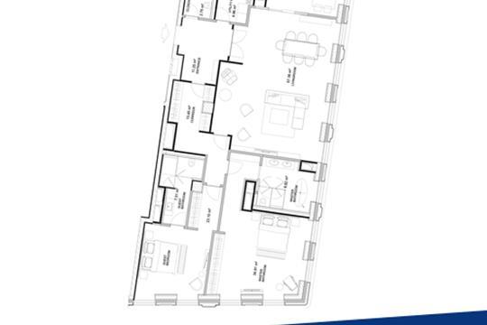 3-комн квартира, 175.9 м2, 8 этаж