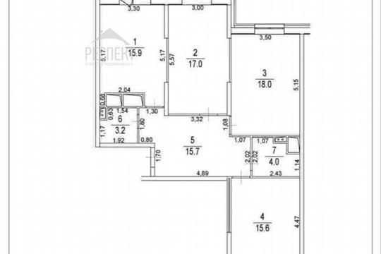 3-комн квартира, 96 м<sup>2</sup>, 20 этаж_1