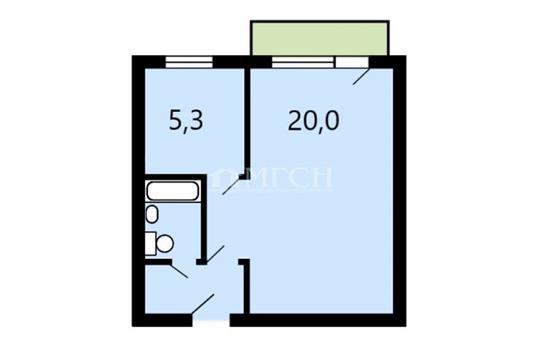 1-комн квартира, 31.5 м2, 7 этаж