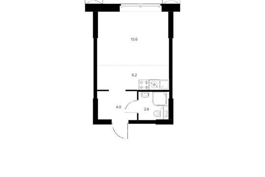 Студия, 26.4 м2, 3 этаж