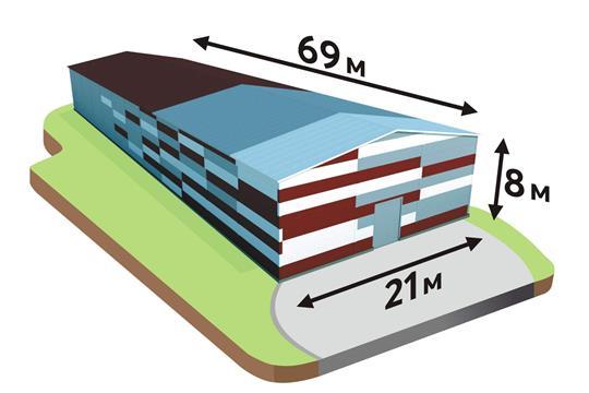 Склад, 1500 м2, класс B