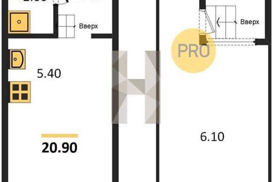 Студия, 20.9 м2, 4 этаж