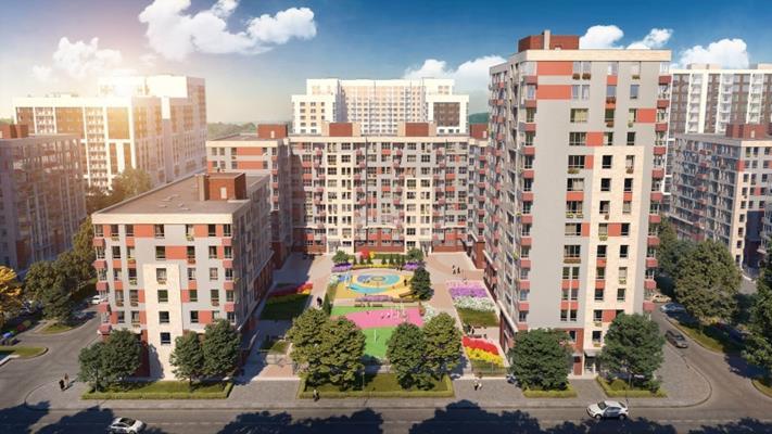 2-комн квартира, 47.5 м2, 14 этаж - фото 1