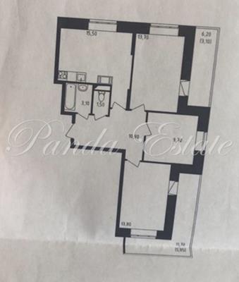 3-комн квартира, 78 м2, 14 этаж - фото 1