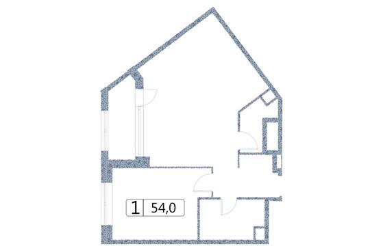 1-комн квартира, 54 м<sup>2</sup>, 2 этаж_1