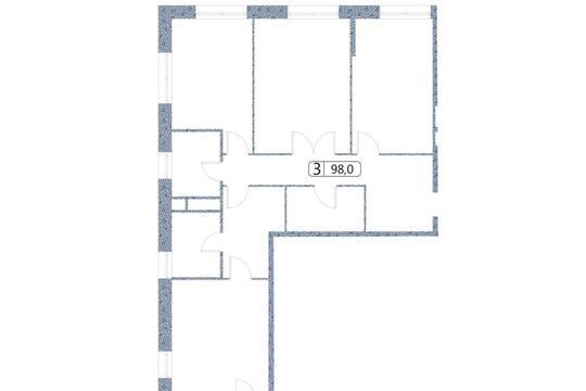 3-комн квартира, 98 м2, 13 этаж