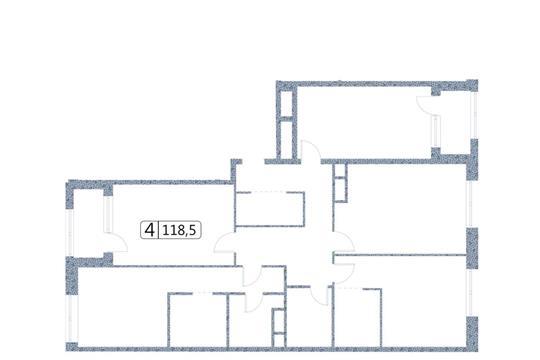 4-комн квартира, 118.5 м2, 16 этаж