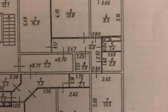 3-комн квартира, 65 м2, 8 этаж