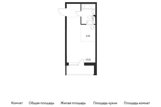 Студия, 27.47 м<sup>2</sup>, 11 этаж_1