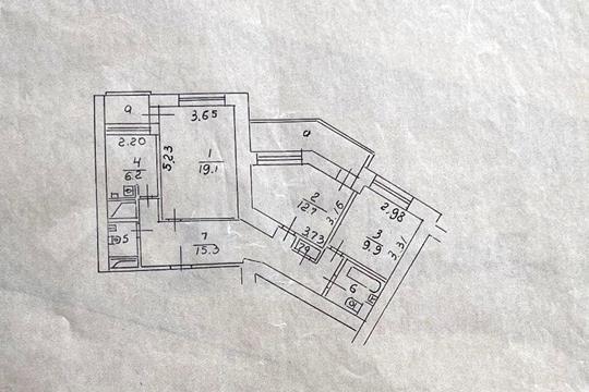 3-комн квартира, 75.2 м2, 4 этаж