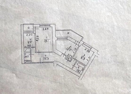 3-комн квартира, 75.2 м2, 4 этаж - фото 1