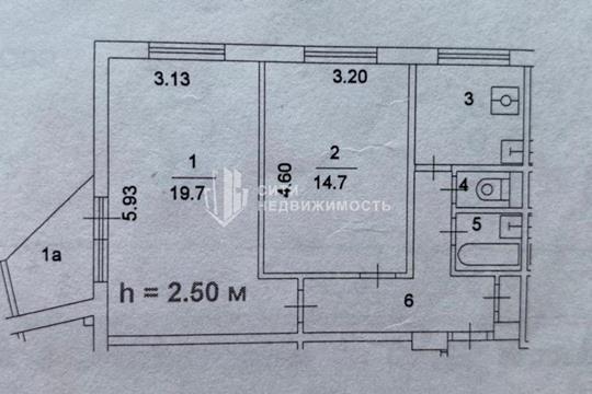 Комната в квартире, 52 м2, 4 этаж