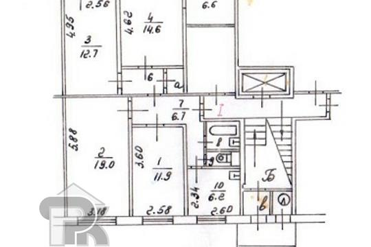 5-комн квартира, 85 м2, 1 этаж