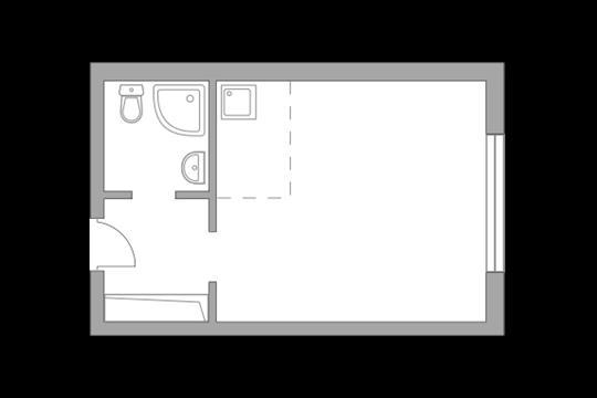 Студия, 22.75 м<sup>2</sup>, 1 этаж_1
