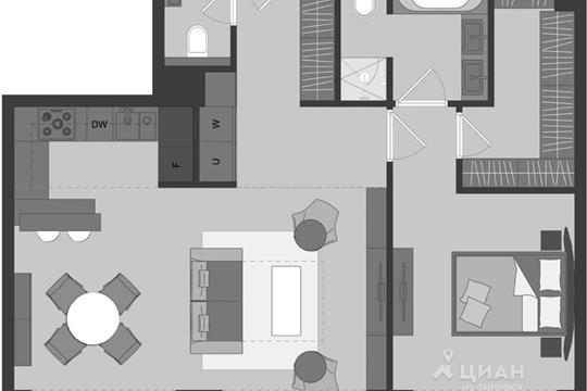 2-комн квартира, 66 м<sup>2</sup>, 9 этаж_1