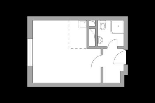 Студия, 23.47 м<sup>2</sup>, 10 этаж_1