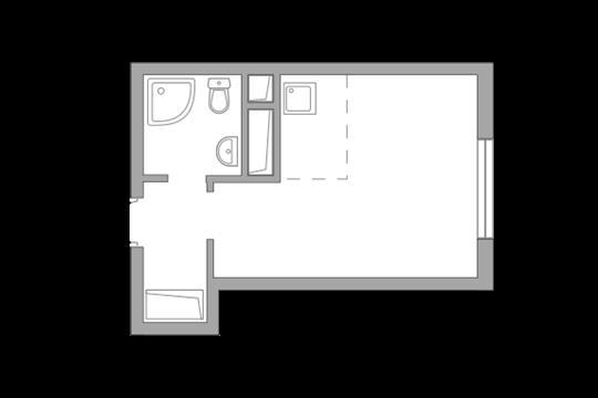 Студия, 21.42 м<sup>2</sup>, 9 этаж_1