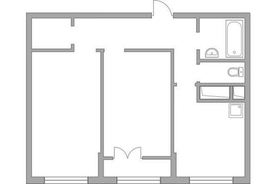 2-комн квартира, 54.32 м2, 9 этаж