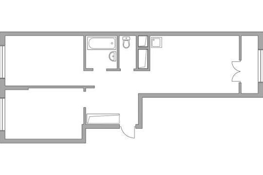 2-комн квартира, 56.47 м2, 9 этаж