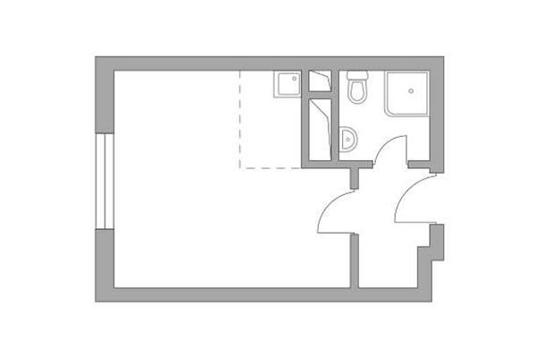 Студия, 23.47 м2, 10 этаж - фото 1