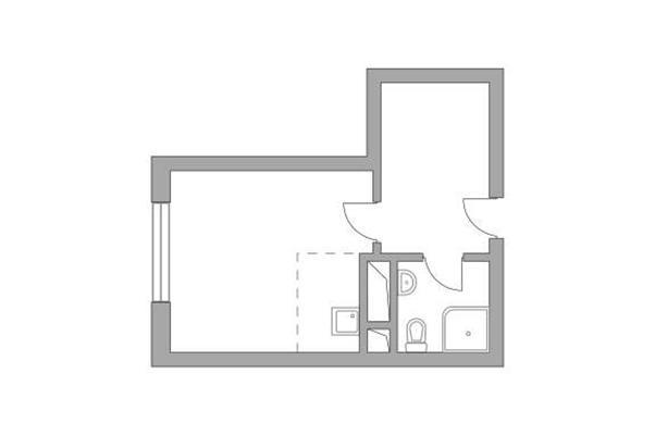 Студия, 22.95 м2, 10 этаж - фото 1