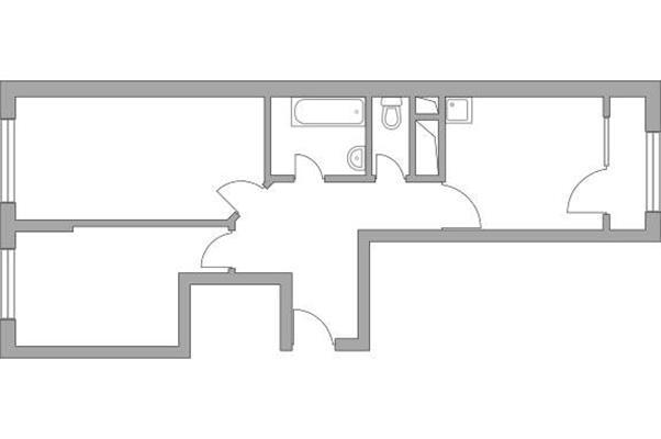 2-комн квартира, 56.37 м2, 10 этаж - фото 1