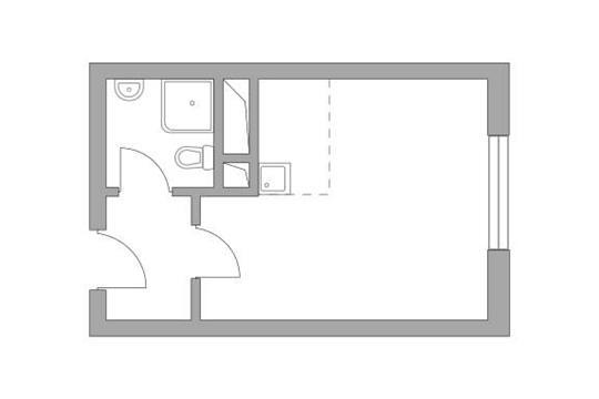Студия, 23.25 м2, 19 этаж