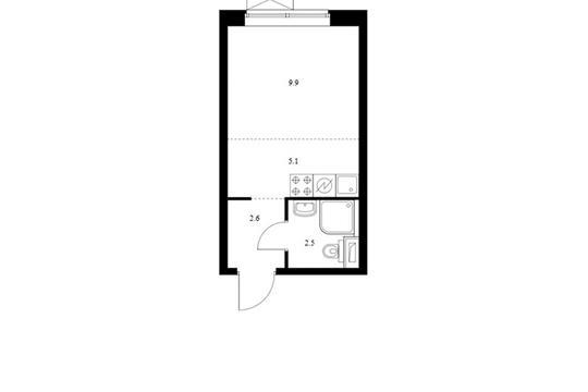 Студия, 20.1 м2, 6 этаж