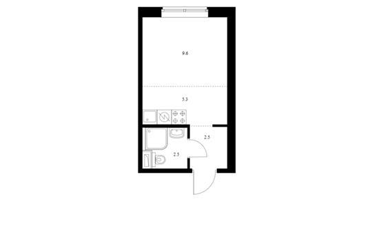 Студия, 19.9 м2, 1 этаж