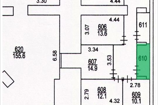 Склад, 4.4 м2, класс A