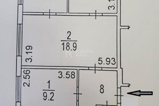 4-комн квартира, 61.1 м2, 1 этаж