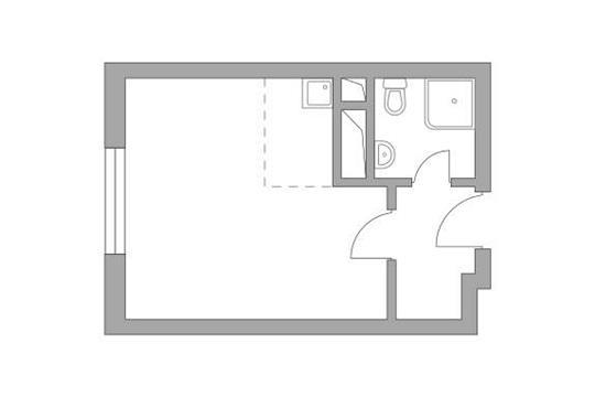 Студия, 23.47 м<sup>2</sup>, 9 этаж_1