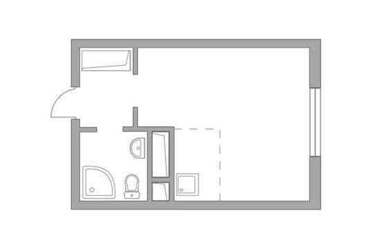 Студия, 22.25 м<sup>2</sup>, 11 этаж_1