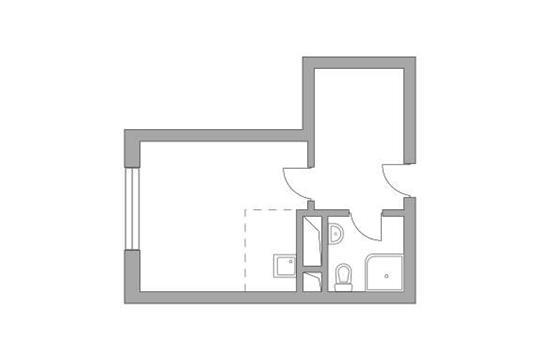 Студия, 22.95 м2, 11 этаж